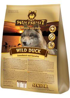 Hochwertiges Futter ohne Getreide oder Zucker für Senioren - Wolfsblut Wild Duck Senior #hundefutter #wolfsblut #healtfood24 #wolfsbluthundefutter