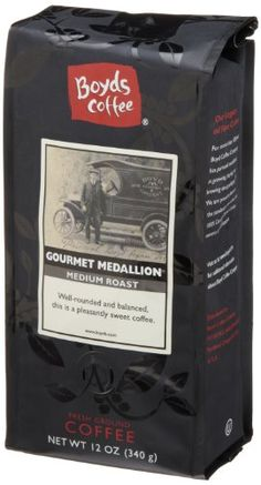 Boyds Coffee Gourmet Medallion Ground Medium Roast Coffee 12Ounce Bag * Check out this great product. Note: It's an affiliate link to Amazon.