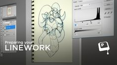 Scanning Your Lineart - If you've got a traditional pen or pencil drawing that you want to color digitally, scanning the image is only step 1. Before you can start painting you need to make a few adjustments. This video shows some simple tweaks that will make your sketch prepared for painting. ★ || CHARACTER DESIGN REFERENCES • Find us on www.facebook.com/CharacterDesignReferences and www.pinterest.com/characterdesigh || ★