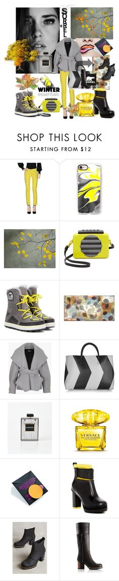 """Sorrel"" by rosalindmarshall ❤ liked on Polyvore featuring Armani Jeans, Casetify, Marc by Marc Jacobs, SOREL, WALL, Balmain, Anya Hindmarch, Versace and Devinah Cosmetics"