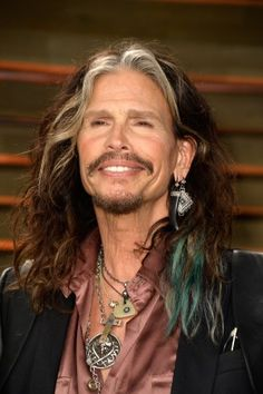 Steven Tyler frontman of Aerosmith and father of actress Liv Tyler