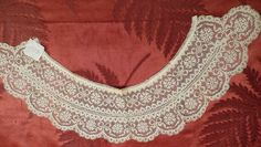 Handmade filet lace collar circa 1800s