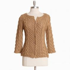 Ruche cable knit