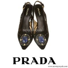 Prada Jeweled Brooch Suede Pump