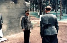 World War II in Color: Adolf Hitler in Front of His Newly Built Bunker Afghanistan War, Iraq War, Bunker, The Rat Patrol, Military Trends, Hogans Heroes, Close Air Support, The Third Reich, Battle Of Britain