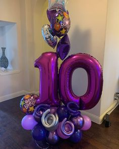 Birthdays are fun! Call us for your bouquet today Balloon Tower, Balloon Columns, Birthday Balloon Decorations, Birthday Balloons, Balloon Bouquet Delivery, Purple Balloons, Balloon Arrangements, Cinderella Birthday, Happy Party