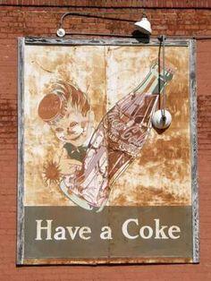 Gilmer Tx - Ghost Coke Sign