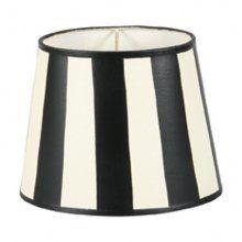 Svart och vit handmålad lampskärm