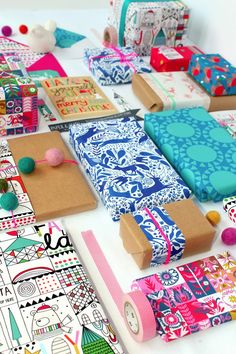 love these wrapping papers!