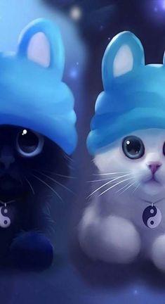 70 Ideas For Anime Art Cute Baby Animals Cute Cat Wallpaper, Cute Disney Wallpaper, Cute Cartoon Wallpapers, Cute Wallpaper Backgrounds, Animal Wallpaper, Baby Wallpaper, Cute Animal Drawings, Kawaii Drawings, Cute Drawings