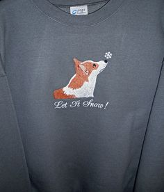 Let it Snow  WELSH CORGI Embroidered Dog Breed by OneDogFashions