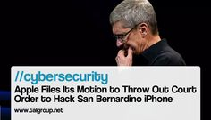 CYBERSECURITY: Apple Files Its Motion to Throw Out Court Order to Hack San…