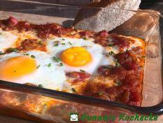 Shakshuka - Eier in scharfer Tomaten-Sauce