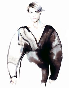 Petra Dufkova is a German fashion Illustrator and figurative artist, who uses aquarelle technique to create paintings with unique sense of depth. Mountain Illustration, Illustration Mode, Fashion Gallery, Fashion Art, Fashion Beauty, Vogue Cover, Fashion Figure Drawing, Mode Editorials, Arabian Beauty