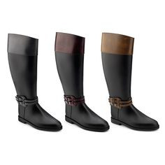 RIDING BOOT WITH DOUBLE ANKLE STRAP