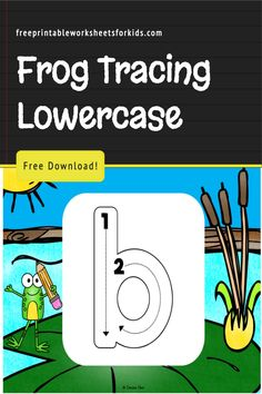 Whether you're prepping for a preschool frog theme week or looking for a kindergarten handwriting practice tool to include in your spring literacy centers, this free printable game will be perfect for it! This frog activity makes a great independent literary center and it's so easy to prepare beforehand. Just print them out to the size you need, laminate and provide some dry-erase markers. #preschoolfrogtheme #springliteracycenter #freeprintableworksheetsforkids Free Printable Worksheets, Worksheets For Kids, Free Printables, Kindergarten Handwriting, Handwriting Practice, Frog Activities, Letter Flashcards, Frog Theme, Dry Erase Markers