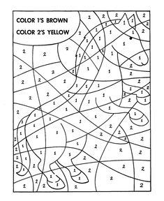 Hidden Picture Coloring Page | Horse