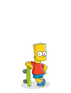 Bart skate boarding
