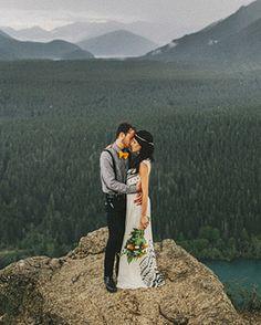 Ooohhh. My.  WEDDING LOCATION: NORTH BEND, WA VENUE: RATTLESNAKE RIDGE