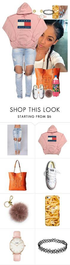 """""""Untitled #3646"""" by astoldby-kay ❤ liked on Polyvore featuring Tommy Hilfiger, Converse, MICHAEL Michael Kors, Casetify, CLUSE and David Yurman"""