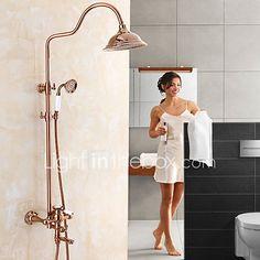 Salle de bain douche Robinets de douche en aluminium binaison