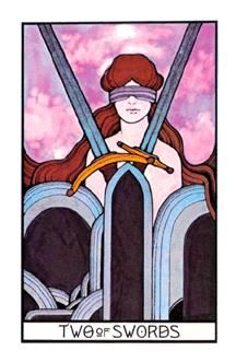 September 19 Tarot Card: Two of Swords (Aquarian deck) You don't have to go on feeling stuck. Listen to your feelings instead of your thoughts now ~ they will guide you out of this