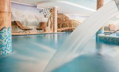 Indoor swimming pool with swallow shower