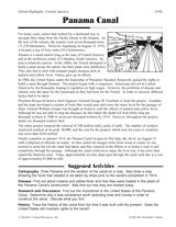 Learn about the construction of the Panama Canal by reading the background information and doing one of the related activities.