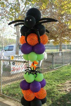 Spider balloon column