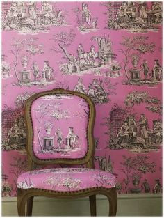 lolly pink toile de jouy