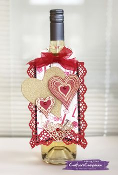She's a Color Queen! #crafterscompanion #valentinesday #wineoclock  #winebottlecrafts #ccgemini
