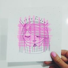 Happy Fridayyyy!! #ThereandHere #illustration #pink #HappyFriday #artcollection #ArtJournal #Vsco #vscocam