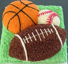 Just a picture for ideas for kids birthdays Sports Birthday Cakes, Sports Themed Cakes, Boy Birthday, Birthday Ideas, Basketball Birthday, Birthday Recipes, Birthday Cupcakes, Cute Cakes, Pretty Cakes