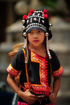 Girl from Akha hill Tribe