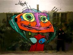 Grotesquely Groovy Street Art  Ikaroz Tags Stockholm with Crazy Characters