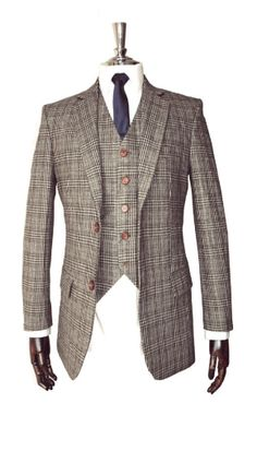 Buy Traditional Tweed 3 Piece SuitMen's Clothing on bdtdc.com