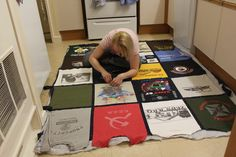 http://colleenfowler.hubpages.com/hub/How-to-Make-a-T-Shirt-Quilt-for-Beginners-a-Step-by-Step-Guide