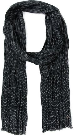 $625, Saint Laurent Polka Dot Scarf. Sold by farfetch.com. Click for more info: https://lookastic.com/women/shop_items/175630/redirect