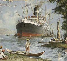 SS Tjitaroem - watercolor from Francisco Noguerol