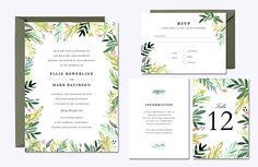 Printable Engagement Invitation Template  Diy Floral Engagement