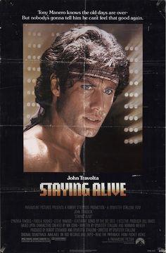 "Staying Alive 1983 Authentic 27"" x 41"" Original Movie Poster John Travolta Drama U.S. One Sheet"