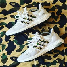 Bape x Adidas Ultra Boosts.