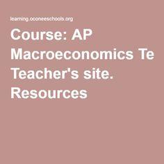 Course: AP Macroeconomics Teacher's site. Resources Economics Lessons, Teacher Sites, Uni Life, Nerd Stuff, Social Studies, Good To Know, Curriculum, School Stuff, School Ideas