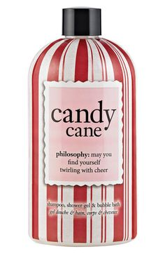 because who doesn't want to smell like candy canes? (seriously). philosophy 'candy cane' shampoo, shower gel & bubble bath #Nordstrom #Beauty #Holiday #Gift