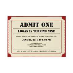 movie party invite