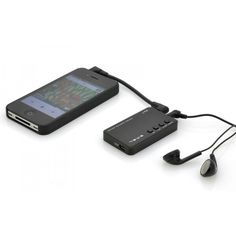 Portable Headphone Amplifier with EQ Adjustment and a Built-In Battery will achieve a true sound via your headphones from shopswagstore.com