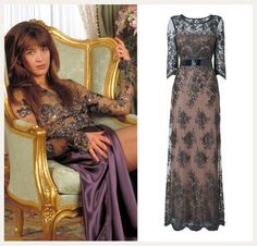 Bond girl Elektra King in The World is Not Enough. Get the look with the Sabrina Lace Beaded Dress