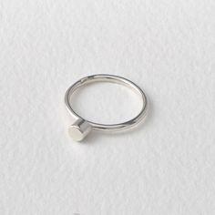 Dot Ring, Modern, Geometric, Sterling Silver, Stacking Ring, Handmade in UK by MatthewCalvin on Etsy https://www.etsy.com/listing/205250113/dot-ring-modern-geometric-sterling