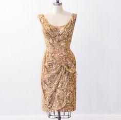 Vintage 1950s Ceil Chapman Dress 50s Floral by daisyandstella, $500.00