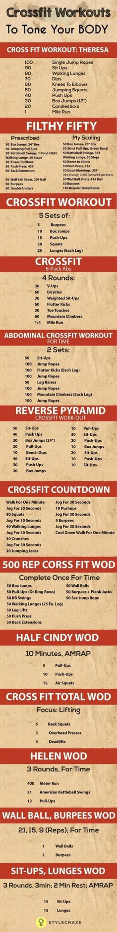 20 Effective Crossfit Workouts To Tone Your Body by kelley